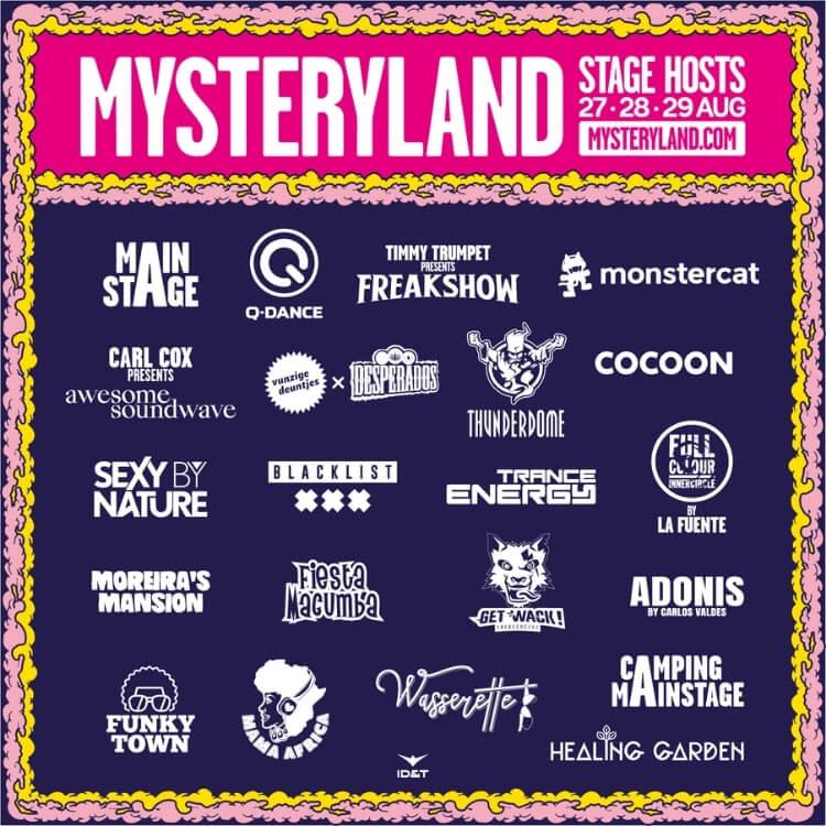 Stage host flyer, Mysteryland festival 2021