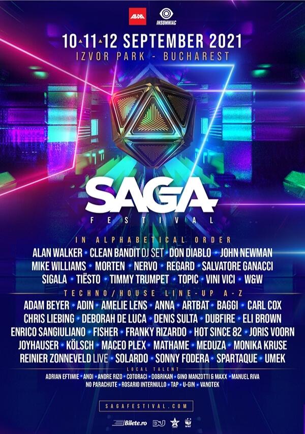 2021 lineup flyer - SAGA Festival