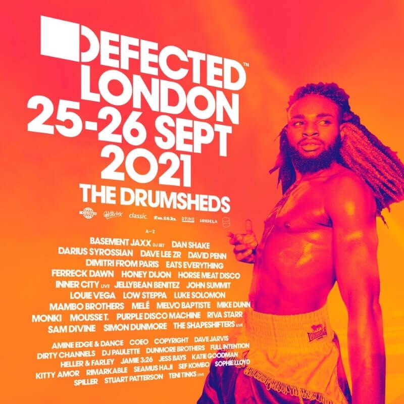 Lineup flyer - Defected London 2021