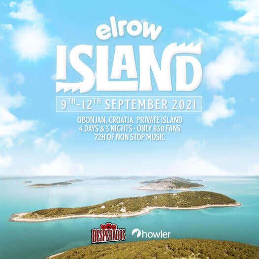 elrow island Croatia 2021 promo flyer