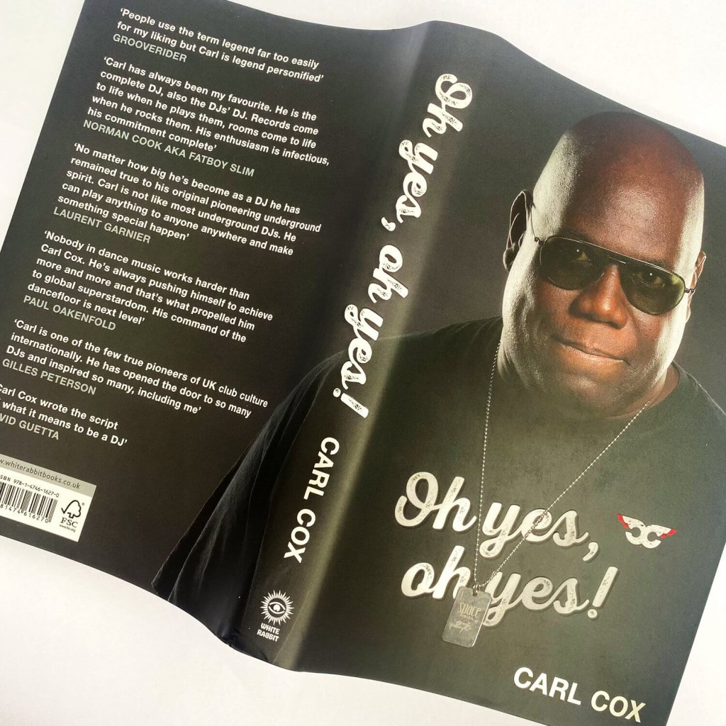 Carl Cox 'Oh Yes Oh Yes' book cover