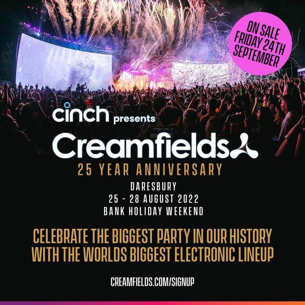 Creamfields 2022 promo flyer