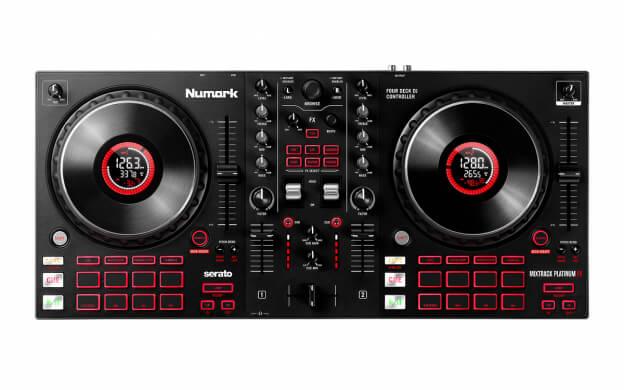 Numark Mixtrack Platinum FX (birds-eye view)